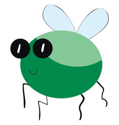 Green bug on white background vector