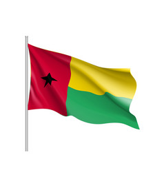 guinea-bissau realistic flag vector image