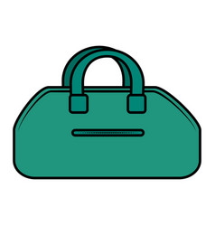 gym bag isolated icon vector image