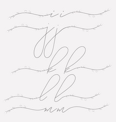 Hand lettering floral lowercase monograms vector