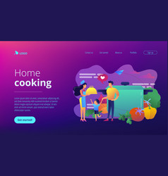 home cooking concept landing page vector image