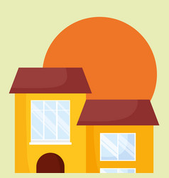 houses icon image vector image