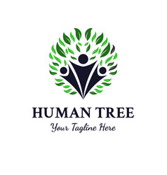 human tree logo designs inspirations vector image