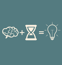 Idea concept brain time idea vector