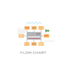 infographic organization data flow chart concept vector image