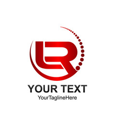 Initial letter lr logo template colored red vector