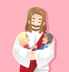 jesus loves kids vector image