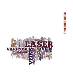 Laser for varicose veins tips on laser surgery vector