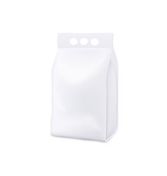 Laundry detergent stand up pouch package realistic vector