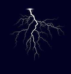 Lightning thunder storm lightnings isolated on vector