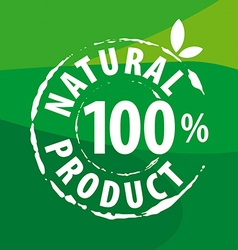 logo for organic food on a green background vector image