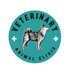 logotype veterinary clinic vector image