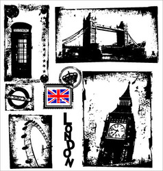 London in grunge background vector