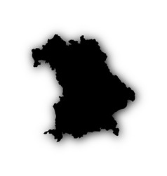 map of bavaria with shadow vector image