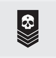 Military symbols rank icon vector