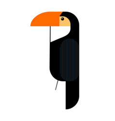 minimalistic image of a toucan vector image
