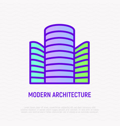 modern architecture thin line icon vector image