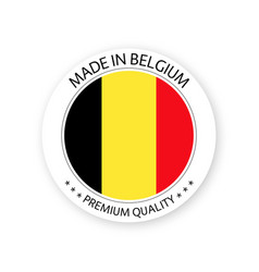 Modern made in belgium label belgian sticker vector