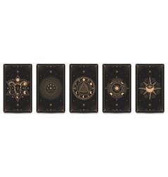 mystic frame card set vector image