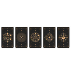 Mystic frame card set vector