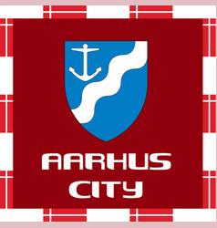 National ensigns of denmark - aarhus vector