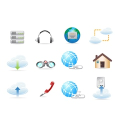 Network Icon sets vector image