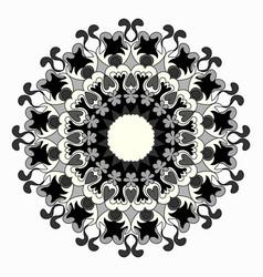 ornament beautiful pattern with mandala geometric vector image