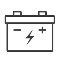 outline car battery icon sign vector image