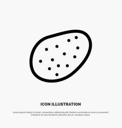 potato food line icon vector image