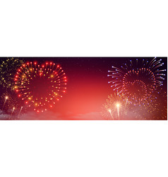 Pyrotechnics and fireworks banner vector