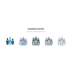 Ranking factor icon in different style two vector