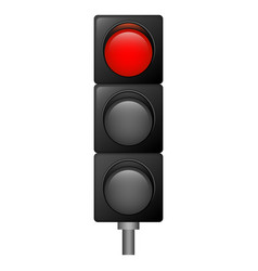 red color traffic lights icon realistic style vector image