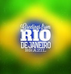 Rio de janeiro design vector