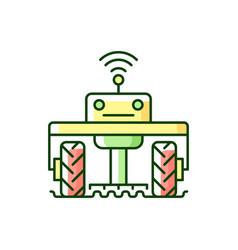 Robotics in agriculture rgb color icon vector