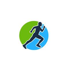 Run logo icon design vector