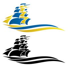 Sailing ship graphic vector