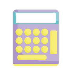 school calculator mathematics isolated icon design vector image