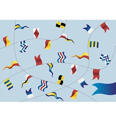 set nautical flags vector image