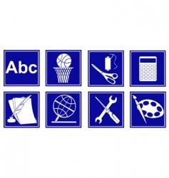 set of educational symbols vector image