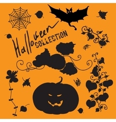 Set of fairy black halloween icons vector