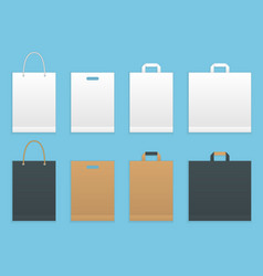 set of six paper shopping or vector image