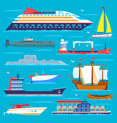 ship cruiser boat sea transport symbol vessel vector image