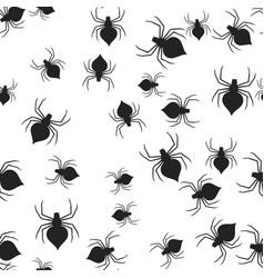 spider halloween pattern seamless vector image