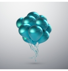 Turquoise Balloon Bunch vector