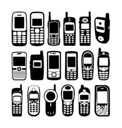vintage handphone vector image