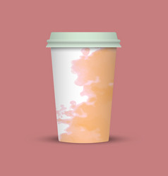 Watercolor coffee cup vector