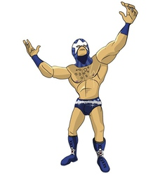 Wrestler Star vector