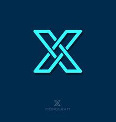 X letter monogram vector