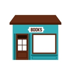 books store building icon vector image