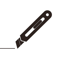 Utility knife sign vector image vector image